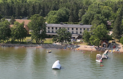 Ruttger's Main Lodge and swim area