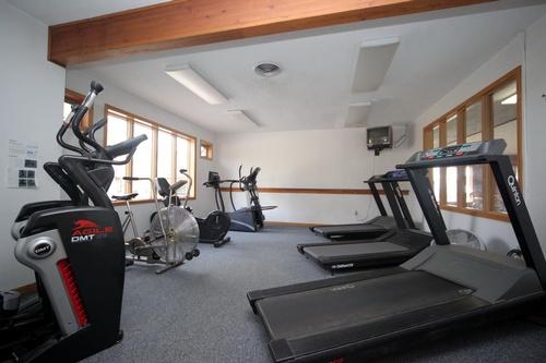 Aerobic room in indoor pool complex
