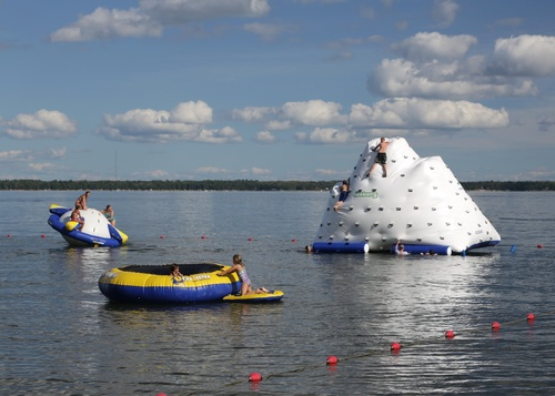 popular water toys in the swim area