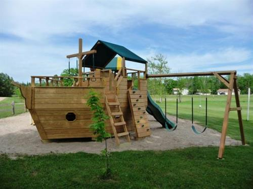New pirate ship on playground