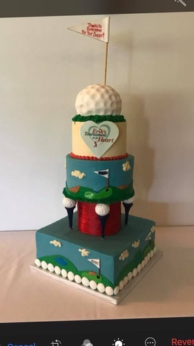 Golf Cake for a Charity Event
