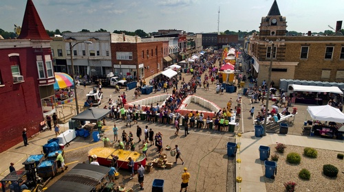 Our largest event each year is the Mendota Sweet Corn Festival