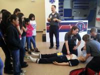 HCC SouthShore EMT/Paramedic class talking to RCMA students