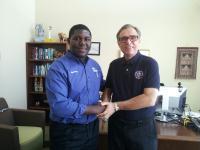 SouthShore President Allen Witt with Student Ambassador