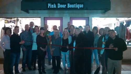 Ribbon Cutting Pink Door Boutique
