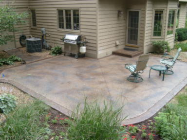 New stamped concrete patio