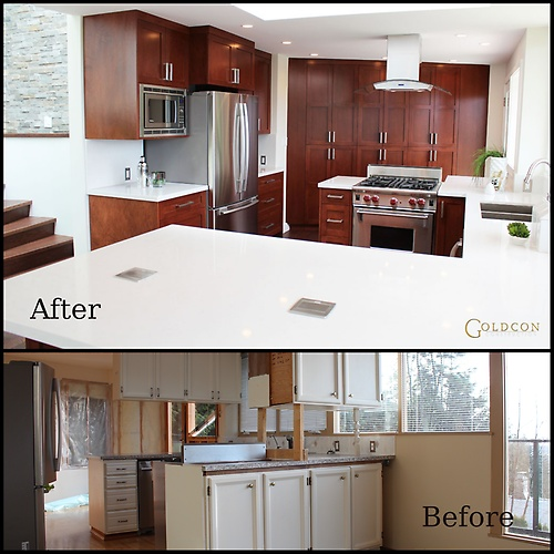 Custom kitchen renovation project - Blueridge - North Vancouver