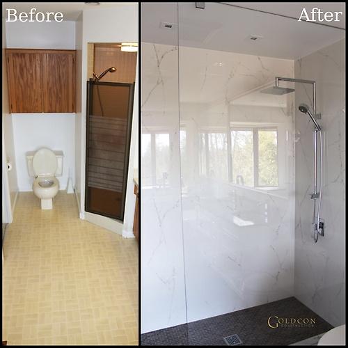 Bathroom renovation - Hill ensuite - North Vancouver