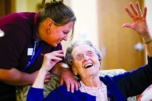 Our life enrichment team works with residents seven days a week for personal, innovative, enriching care.