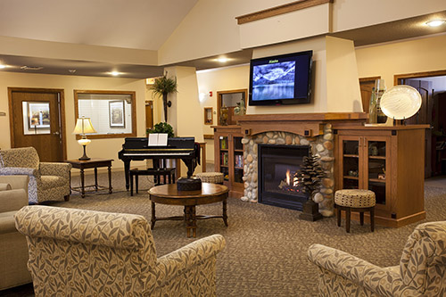 Each Oxford Glen house, feels like home -- with 12 suites opening directly out to a great room full of activity.
