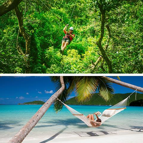 Would you rather spend your vacation zip-lining through Costa Rica or relaxing on a beach?