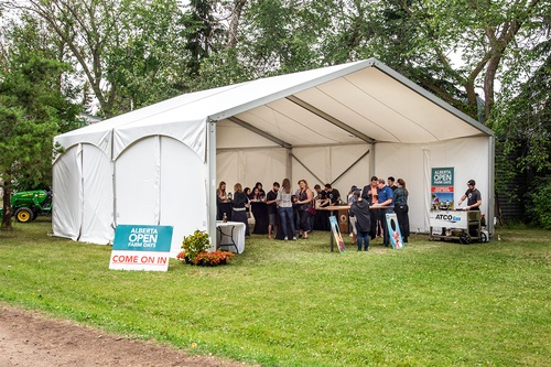 Clearspan tent for functions and events