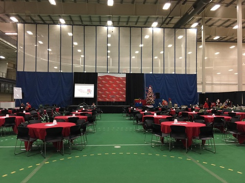 Auction day - set up and ready to go!