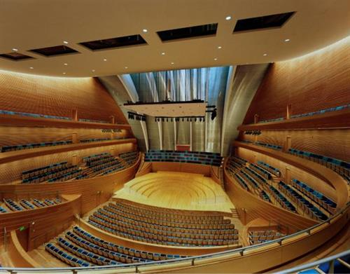 Interior of Helzberg Hall at the Kauffman Center for the Performing Arts (photo by Tim Hursley)