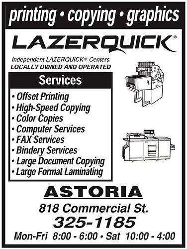 Lazerquick Astoria 620 Printing Astoria Amp Warrenton