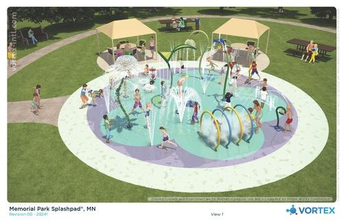 Jackson Splash Pad 3D Concept: View 1