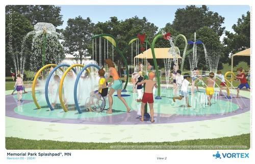 Jackson Splash Pad 3D Concept: View 2