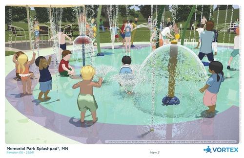 Jackson Splash Pad 3D Concept: View 3