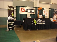 The Peak 98.5 and WHVR 1280 AM's booth at the Women's Show