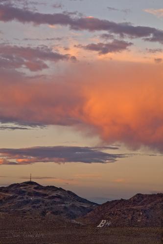 B Mountain Sunset