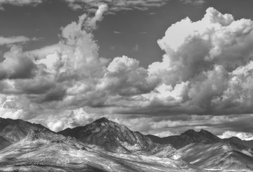 Clouds over the Eastern Sierra Mountain Range