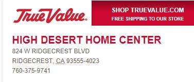 High Desert Home Center   Hardware   Building Materials   Moving Trucks - — Ridgecrest Chamber