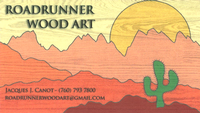 Roadrunner Wood Art