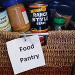 Helping stock local Food Pantry