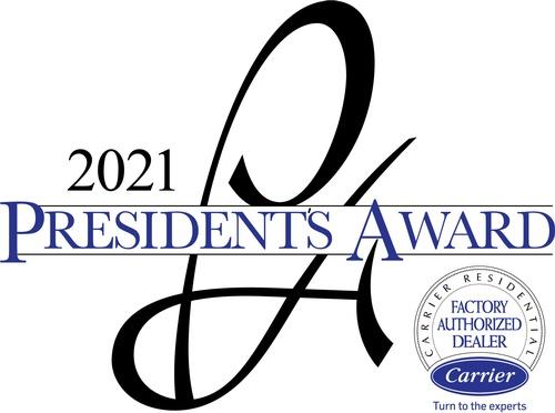 2021 Carrier President's Award Winner