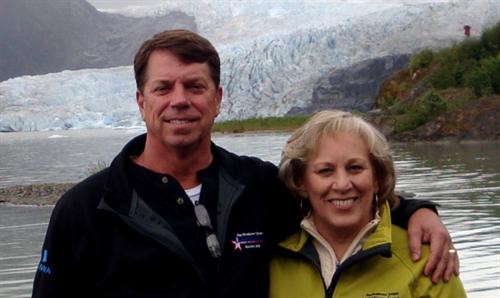 Jim and Candi enjoying Alaska