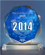 Plum Creek Dental Group was chosen for the 2013 and 2014 Lockhart Awards for Dentistry.