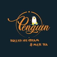 Penguin Rolled Ice Cream and Milk Tea