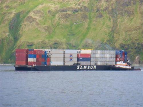 St Elias and Samson Mariner pulling into Dutch Harbor
