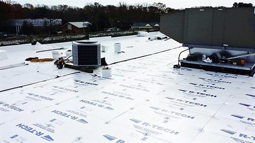 Genflex TPO Flat Roof Installation