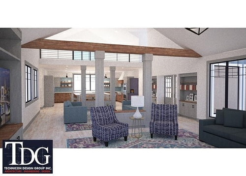 Interior Rendering of Residence, Northwest Ohio