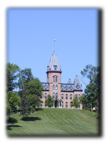 Old Main on the college campus