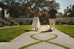 Couple enjoying Casa Blanca Courtyard