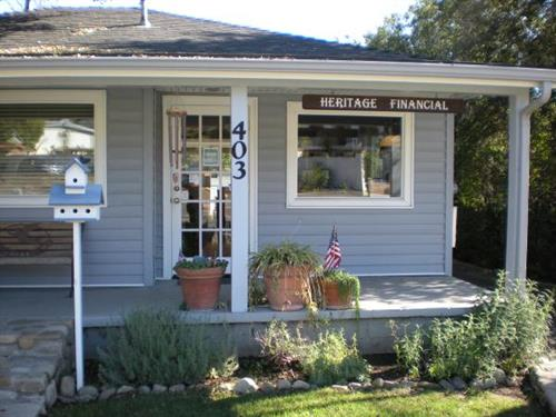 Our home away from home! The Heritage Financial office is an inviting and comfortable Ojai cottage built in the 1930's.