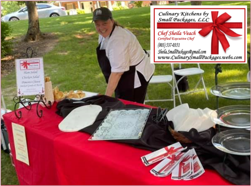 Chef Sheila Veach at Chamber Event