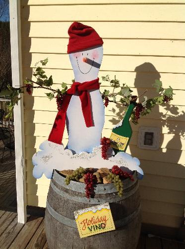 Hightower Creek Vineyard's Snowman Contest Entry