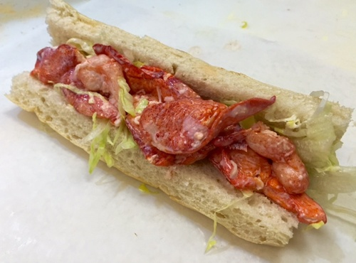 Lobster Sub served on our signature sub roll