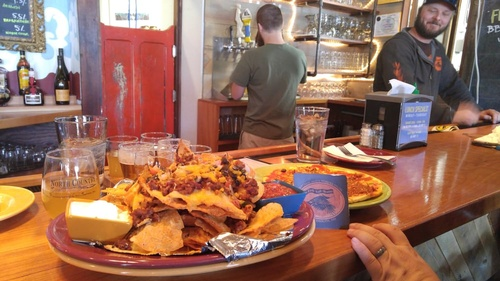 That'd be the infamous Mt. Nacho. Hope you're hungry!