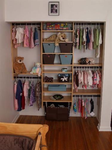 Childs reach in closet in maple