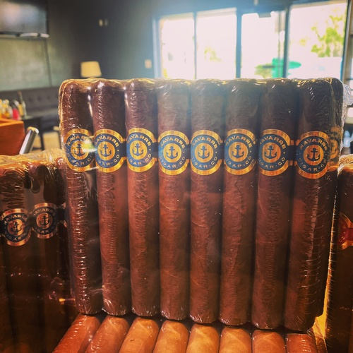 Here are our premium hand rolled cigar brand for our lounge, colors represents all the branches of the arm services and sports the name of the town.