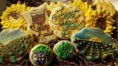 "Gourmet Decorated Cookies ""Feast of Eden"" 2015 Salinas Valley Food & Wine Festival"
