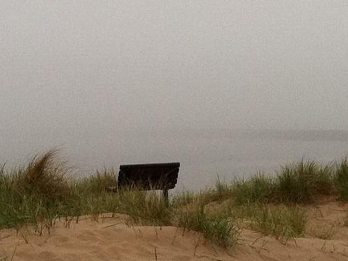 Foggy Frankfort Beach