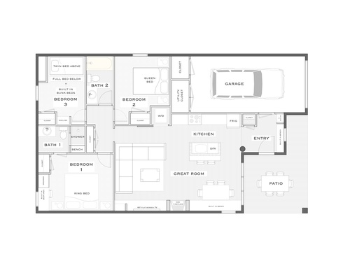 All Cabin Floor Plan