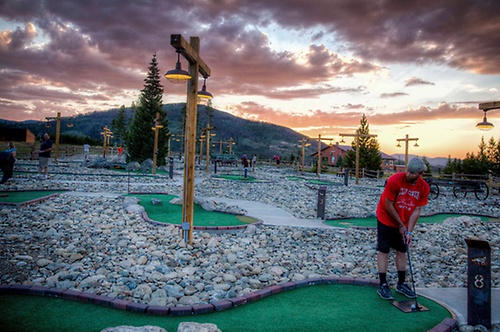18-hole mini golf course AND a 9-hole course for younger kids