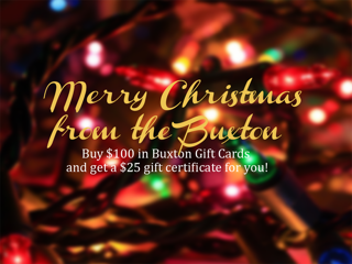 Get your Buxton Inn Gift Cards today!
