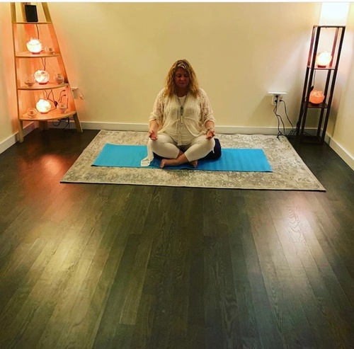 Our beautiful yoga room